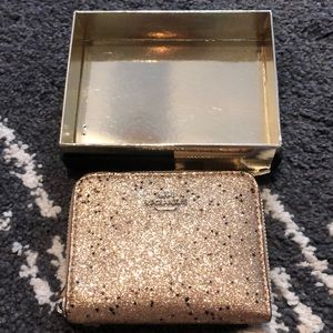 Coach Star Glitter Small Zip Around Wallet